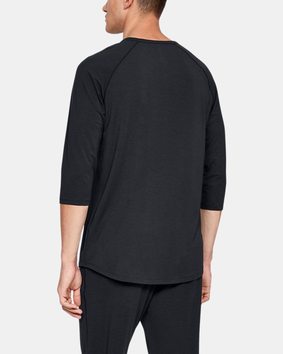 Men's UA RECOVER™ Sleepwear Henley, Black, pdpMainDesktop image number 2