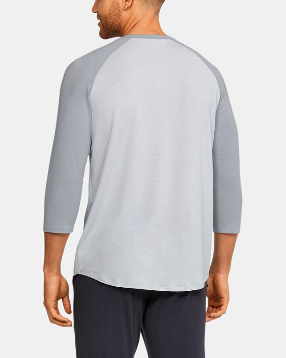 Men's UA RECOVER™ Sleepwear Henley, Gray, pdpMainDesktop image number 2