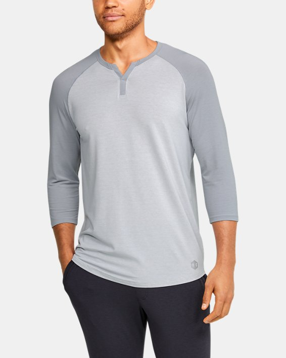 Men's UA RECOVER™ Sleepwear Henley, Gray, pdpMainDesktop image number 0