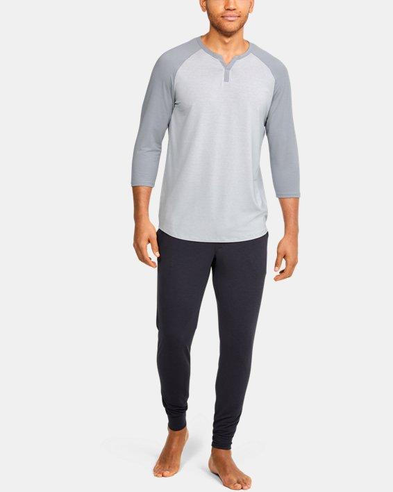 Men's UA RECOVER™ Sleepwear Henley, Gray, pdpMainDesktop image number 1