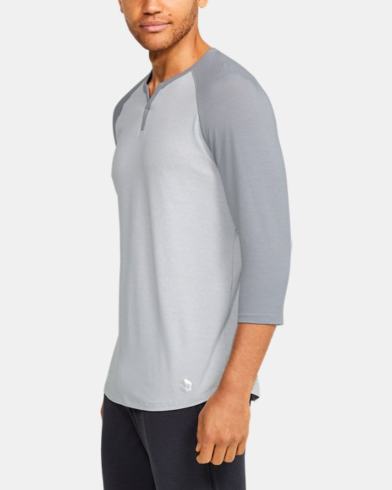 Men's UA RECOVER™ Sleepwear Henley, Gray, pdpMainDesktop image number 3