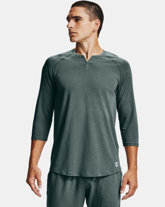Men's UA RECOVER™ Sleepwear Henley, Blue, pdpMainDesktop image number 0