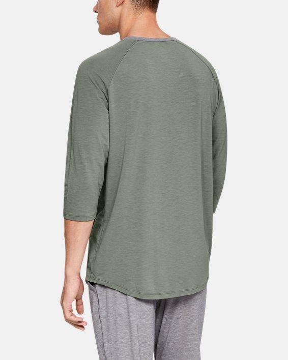 Men's UA RECOVER™ Sleepwear Henley, Green, pdpMainDesktop image number 2