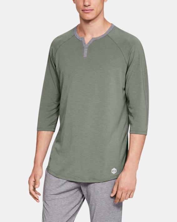 Men's UA RECOVER™ Sleepwear Henley, Green, pdpMainDesktop image number 0