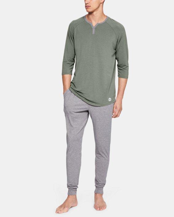 Men's UA RECOVER™ Sleepwear Henley, Green, pdpMainDesktop image number 1