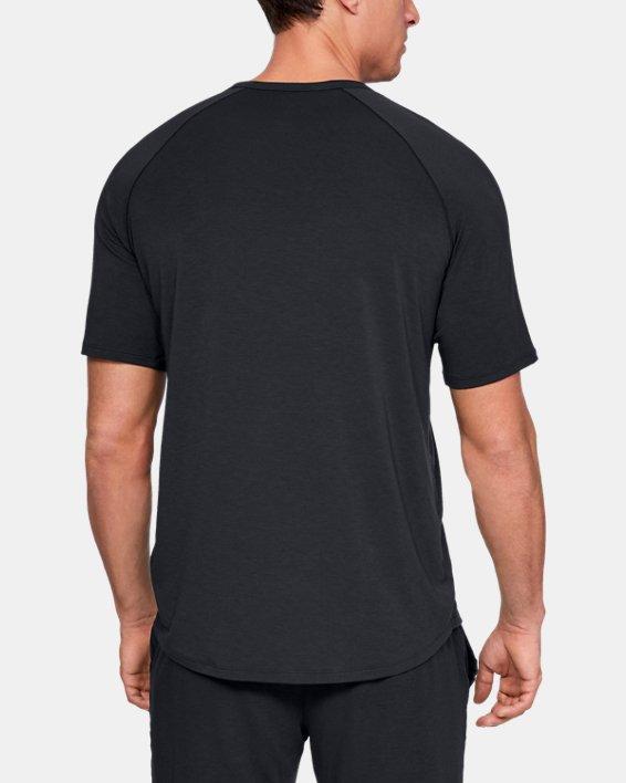Men's UA RECOVER™ Sleepwear Short Sleeve Crew, Black, pdpMainDesktop image number 2