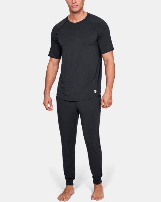 Men's UA RECOVER™ Sleepwear Short Sleeve Crew, Black, pdpMainDesktop image number 1