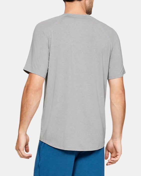 Men's UA RUSH™ Sleepwear Short Sleeve Crew, Gray, pdpMainDesktop image number 2