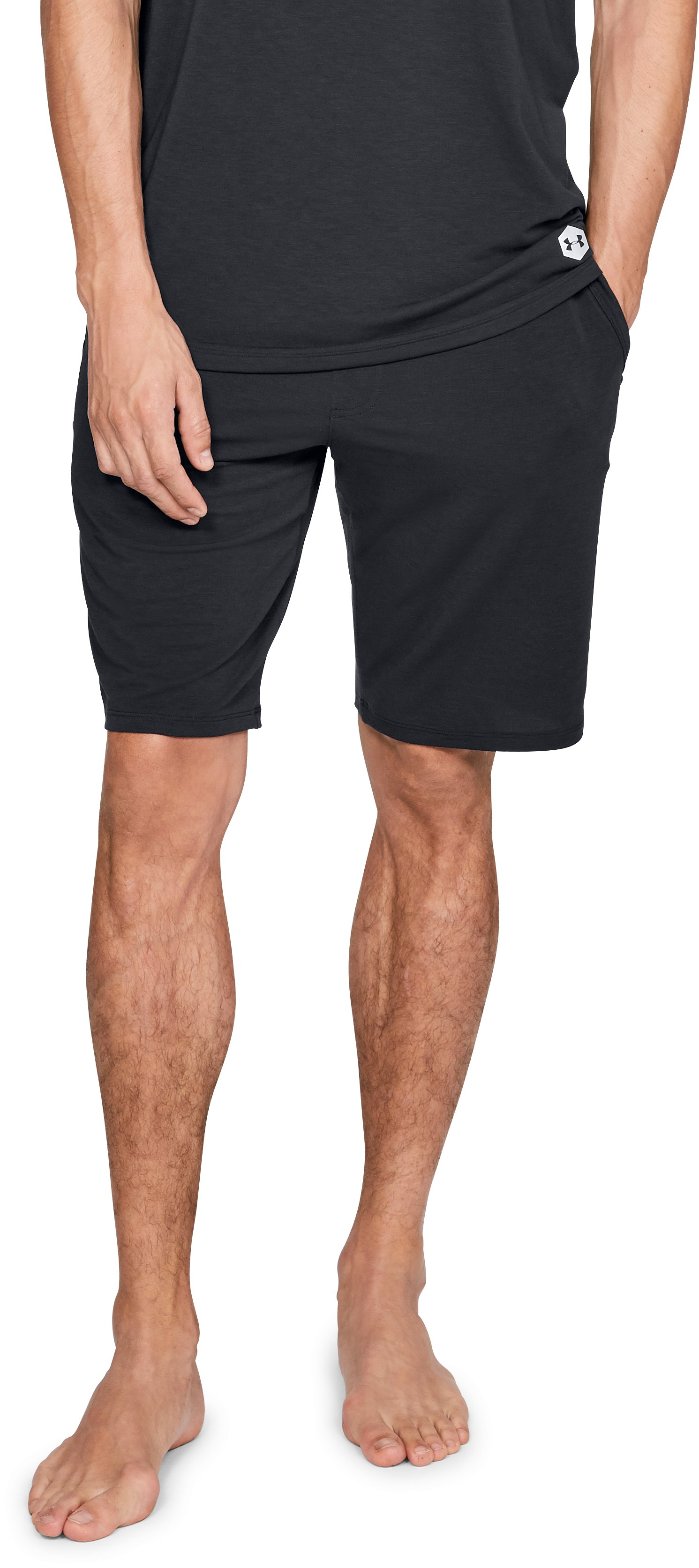 Men's Athlete Recovery Sleepwear™ Shorts, Black , zoomed