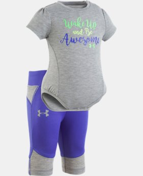 Girls' Newborn UA Wake Up And Be Awesome Set  1  Color $35