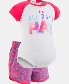 Girls' Newborn UA All Day I Play Set   1  Color $33