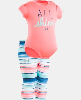 Girls' Newborn UA All Shine Set   1  Color Available $35