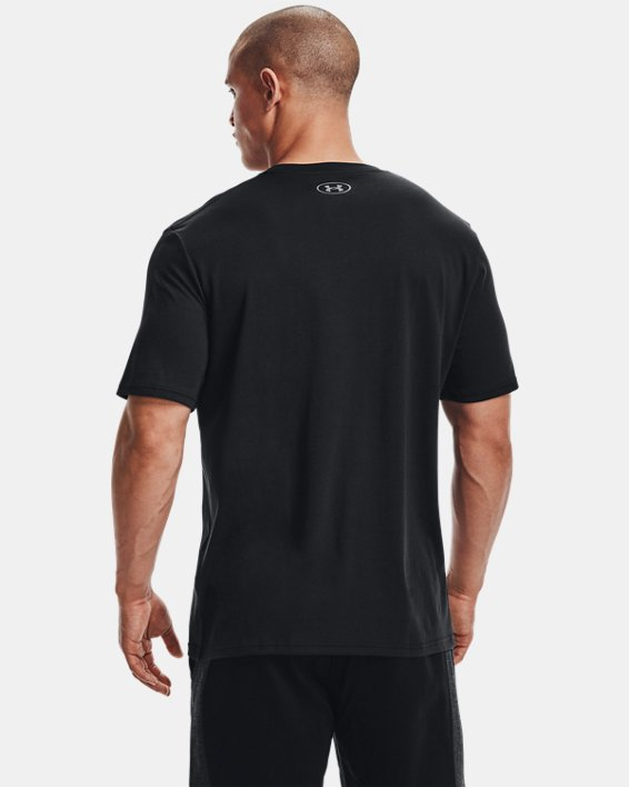Men's UA Boxed Sportstyle Short Sleeve T-Shirt, Black, pdpMainDesktop image number 2