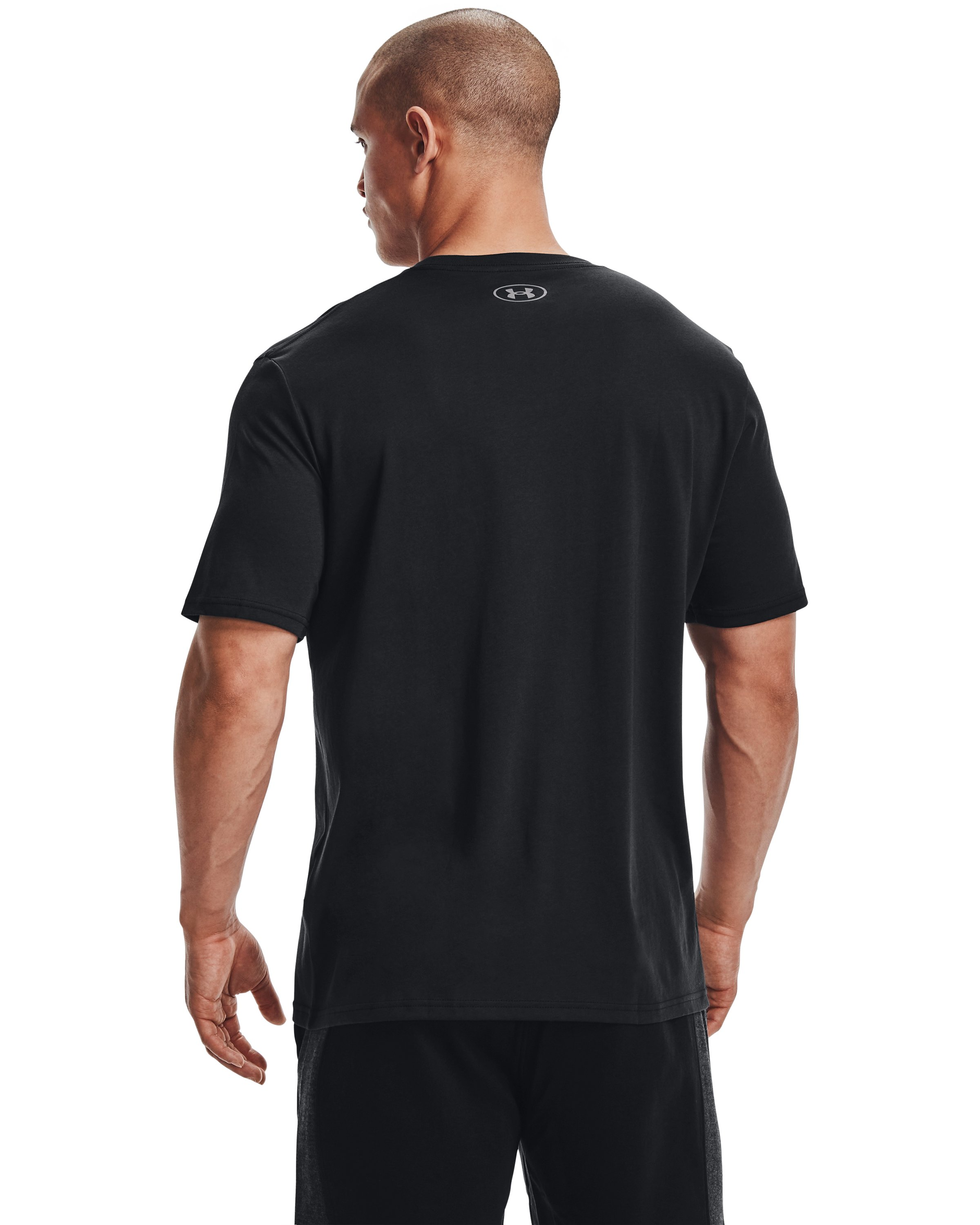 Men's UA Boxed Sportstyle Short Sleeve T-Shirt, Black ,