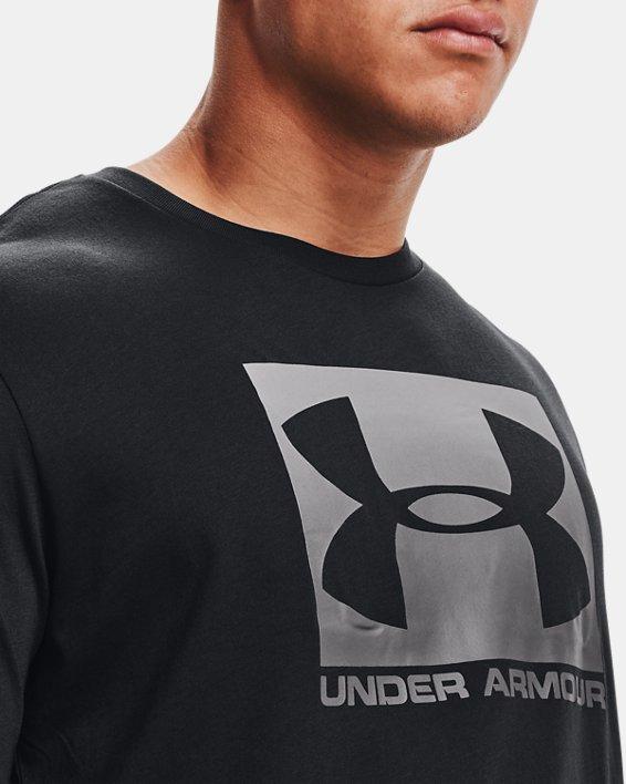 Herren UA Boxed Sportstyle Kurzarm-T-Shirt, Black, pdpMainDesktop image number 6
