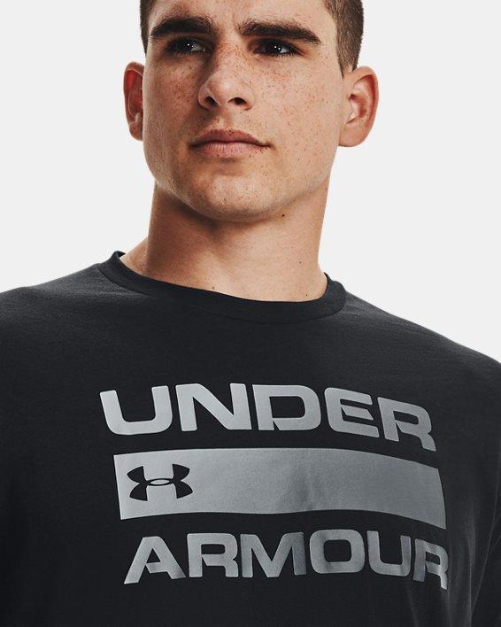 Men's UA Team Issue Wordmark Short Sleeve, Black, pdpMainDesktop image number 4