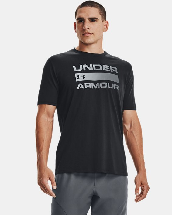 Men's UA Team Issue Wordmark Short Sleeve, Black, pdpMainDesktop image number 1