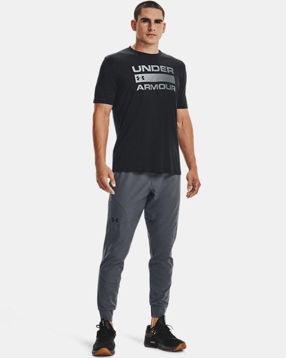 Men's UA Team Issue Wordmark Short Sleeve, Black, pdpMainDesktop image number 3