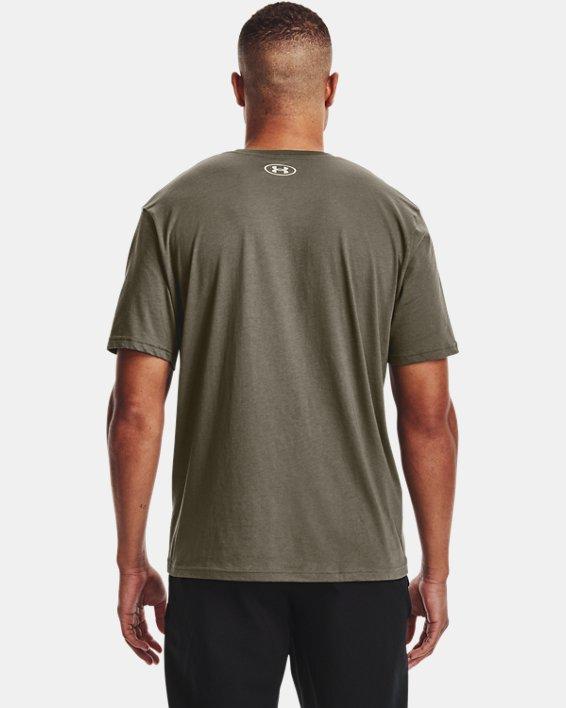 Men's UA Team Issue Wordmark Short Sleeve, Green, pdpMainDesktop image number 1