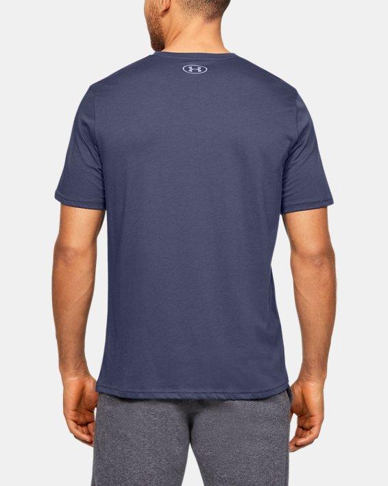 Men's UA Team Issue Wordmark Short Sleeve, Blue, pdpMainDesktop image number 2