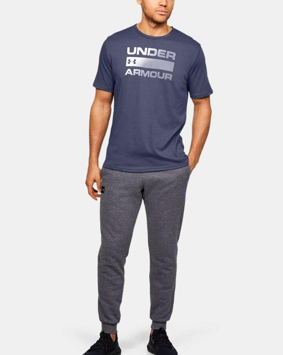 Men's UA Team Issue Wordmark Short Sleeve, Blue, pdpMainDesktop image number 1