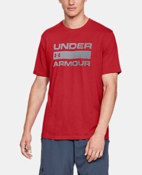 Best Seller  Men's UA Team Issue Wordmark Short Sleeve  1  Color Available $30