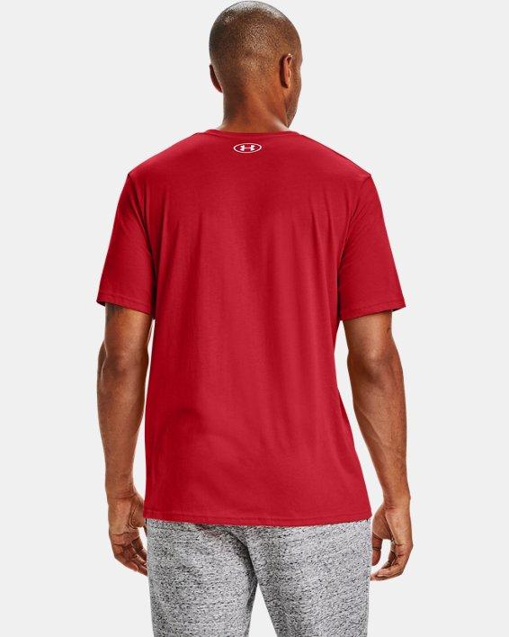 Men's UA Team Issue Wordmark Short Sleeve, Red, pdpMainDesktop image number 2