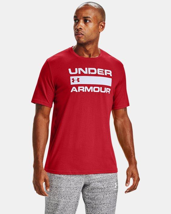Men's UA Team Issue Wordmark Short Sleeve, Red, pdpMainDesktop image number 0