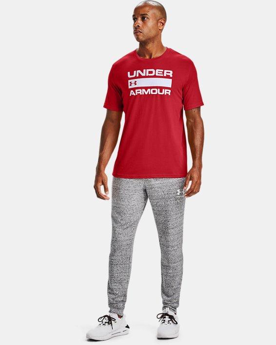 Men's UA Team Issue Wordmark Short Sleeve, Red, pdpMainDesktop image number 1