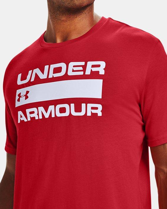 Men's UA Team Issue Wordmark Short Sleeve, Red, pdpMainDesktop image number 3