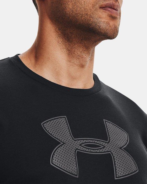 Men's UA Big Logo Short Sleeve T-Shirt, Black, pdpMainDesktop image number 6