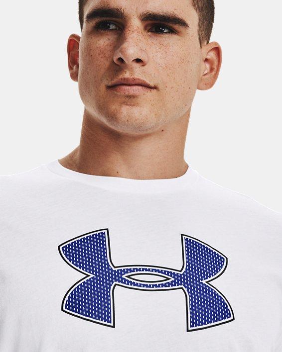 Men's UA Big Logo Short Sleeve T-Shirt, White, pdpMainDesktop image number 4
