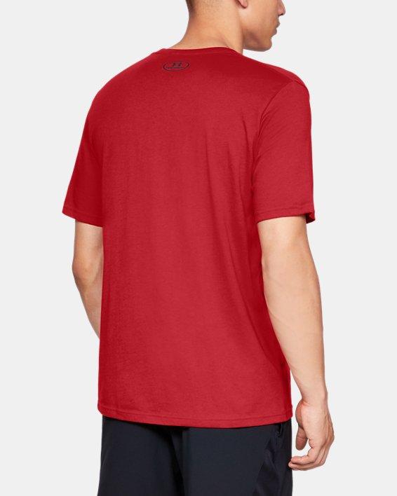 Men's UA Big Logo Short Sleeve T-Shirt, Red, pdpMainDesktop image number 2