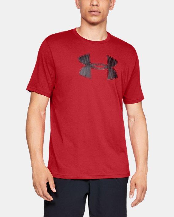 Men's UA Big Logo Short Sleeve T-Shirt, Red, pdpMainDesktop image number 0