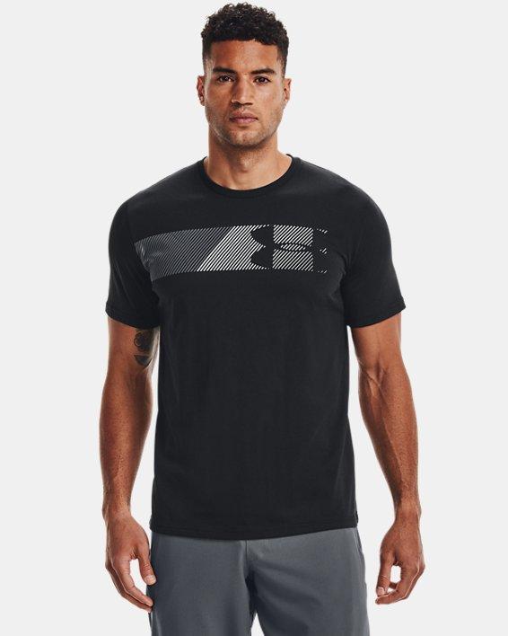 Men's UA Fast Left Chest Short Sleeve, Black, pdpMainDesktop image number 1