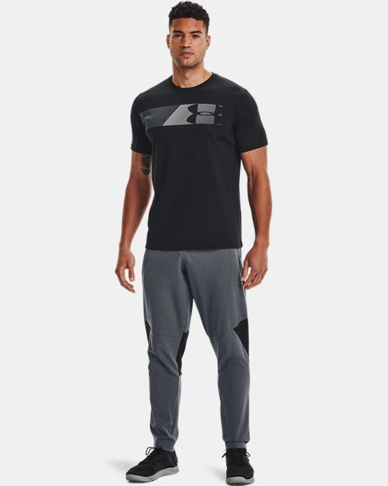 Men's UA Fast Left Chest Short Sleeve, Black, pdpMainDesktop image number 3