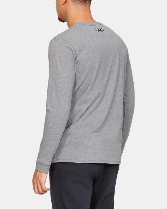 T-shirt à manches longues UA Sportstyle Left Chest pour homme, Gray, pdpMainDesktop image number 2