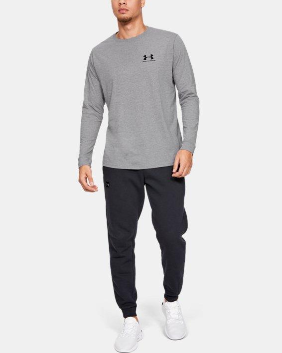 T-shirt à manches longues UA Sportstyle Left Chest pour homme, Gray, pdpMainDesktop image number 1