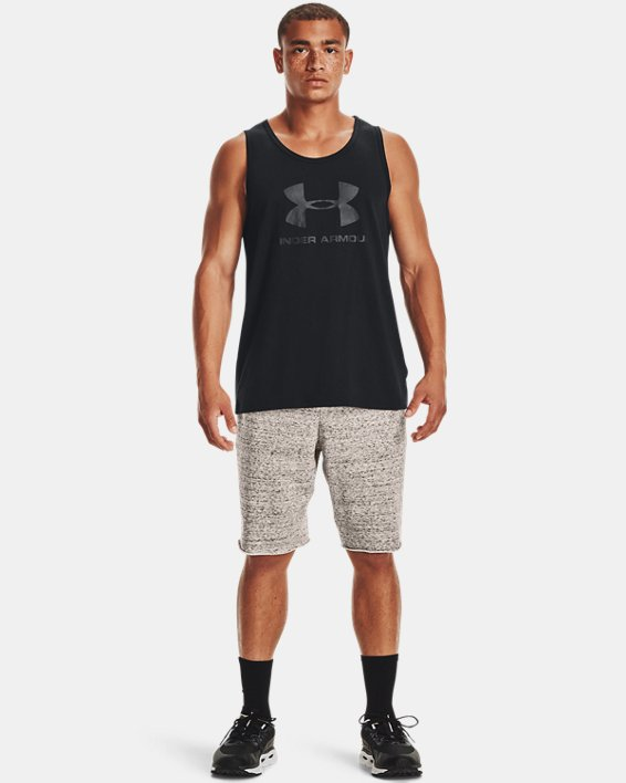 Men's UA Sportstyle Logo Tank, Black, pdpMainDesktop image number 1