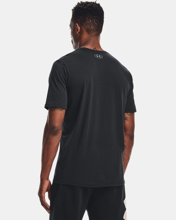 Men's UA Sportstyle Logo Short Sleeve, Black, pdpMainDesktop image number 2