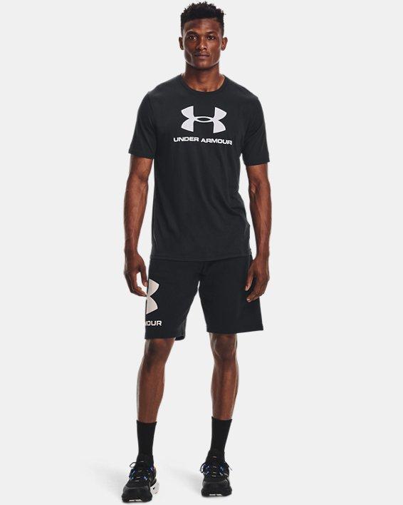 Men's UA Sportstyle Logo Short Sleeve, Black, pdpMainDesktop image number 3