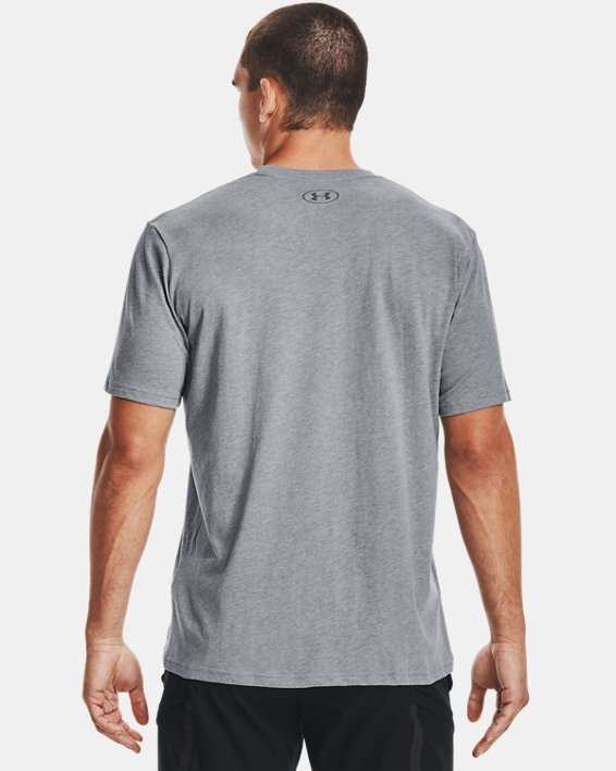 Men's UA Sportstyle Logo Short Sleeve, Gray, pdpMainDesktop image number 2