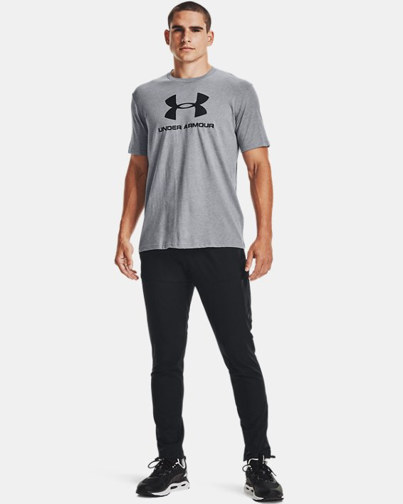 Men's UA Sportstyle Logo Short Sleeve, Gray, pdpMainDesktop image number 1