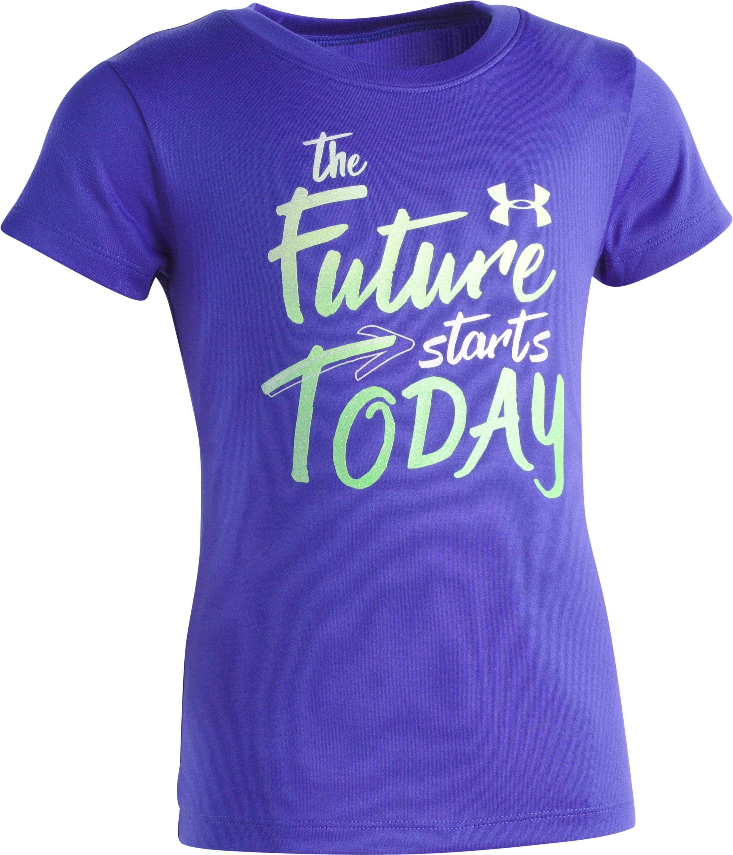 Girls' Pre-School UA The Future Starts Today T-Shirt , CONSTELLATION PURPLE