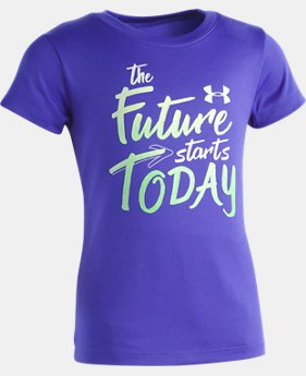 Girls' Pre-School UA The Future Starts Today T-Shirt   1  Color Available $18
