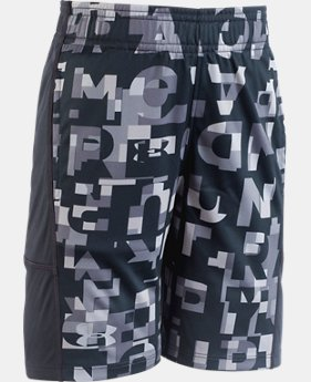 Boys' Pre-School UA Wordmark Stunt Short  2  Colors Available $25