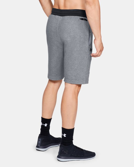 Men's UA Unstoppable Double  Knit Shorts, Gray, pdpMainDesktop image number 2