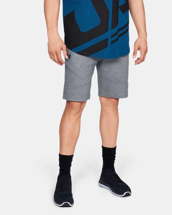 Men's UA Unstoppable Double  Knit Shorts, Gray, pdpMainDesktop image number 0