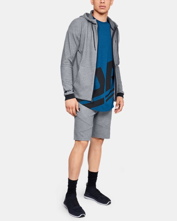 Men's UA Unstoppable Double  Knit Shorts, Gray, pdpMainDesktop image number 1