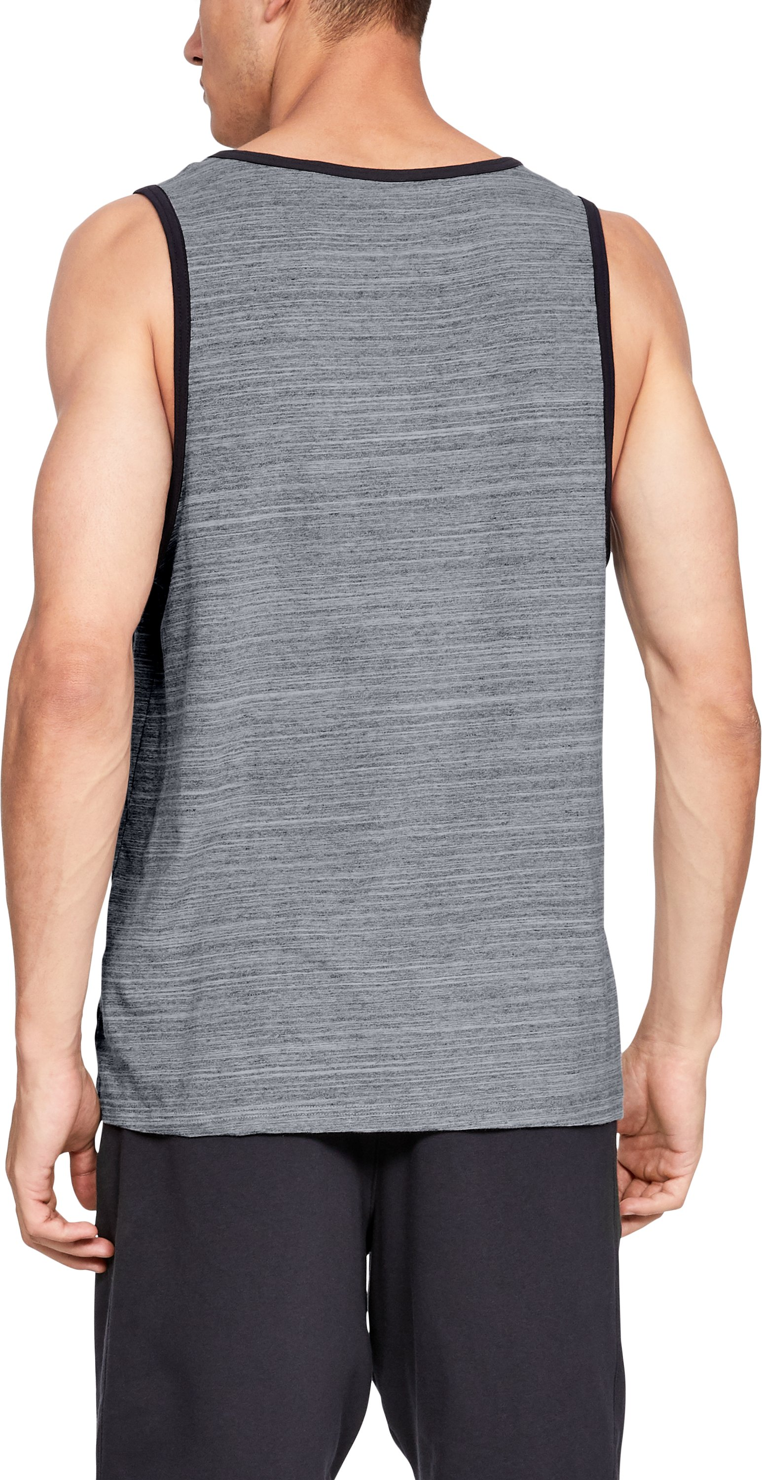 Men's UA Sportstyle Cotton Tank, Steel,